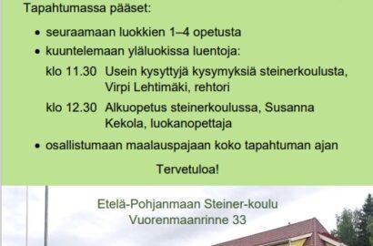 Avoimet ovet la 30.10. klo 11-13